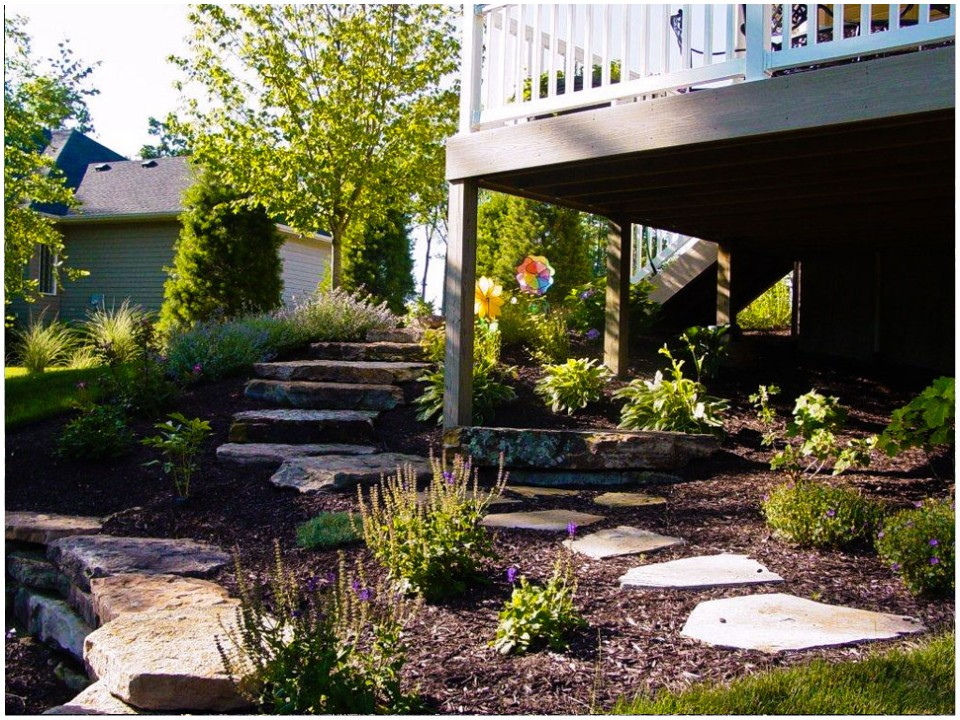 Landscaping fort wayne stone walls and stairways