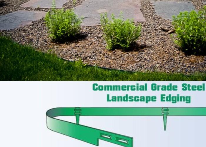 Metal Lawn Edging - Hoot Landscape and Design - Fort Wayne